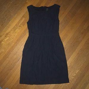 Navy, lace, pencil dress